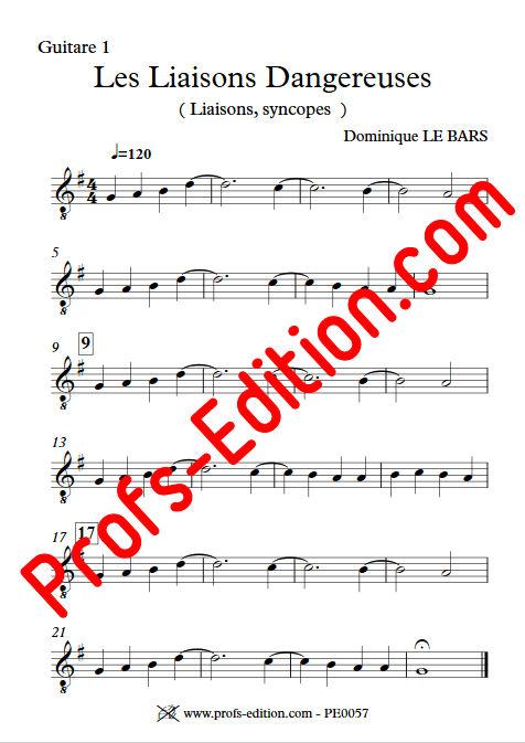 Les Liaisons Dangereuses - Trios Guitare - LE BARS D. - Partition