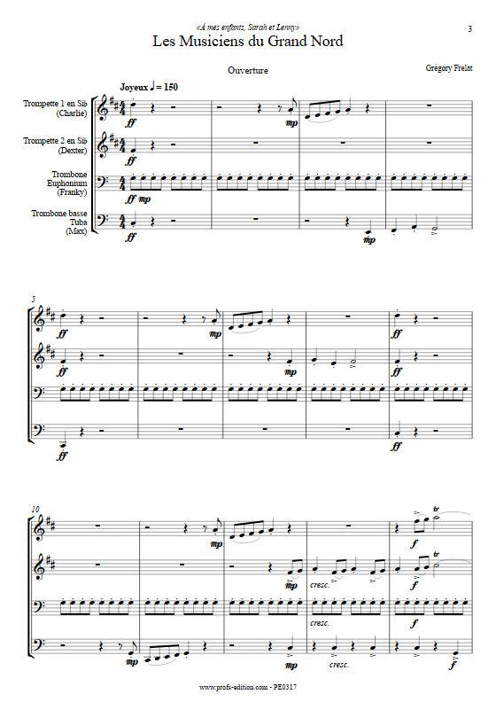Les musiciens du Grand Nord - Quatuor de Cuivres & Chœur - FRELAT G. - Partition