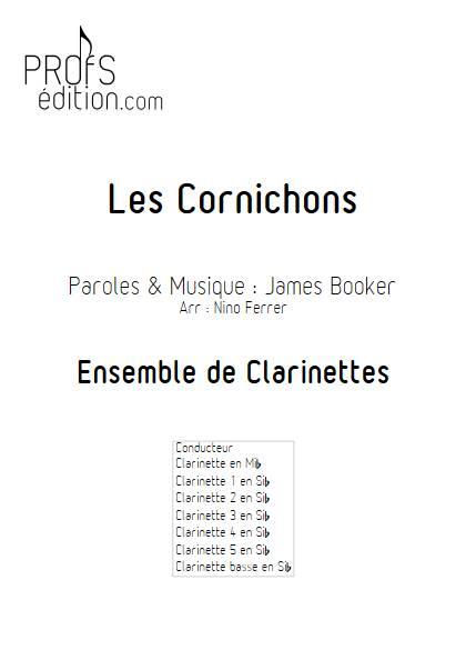 Les Cornichons - Ensemble de Clarinettes - BOOKER J. - page de garde