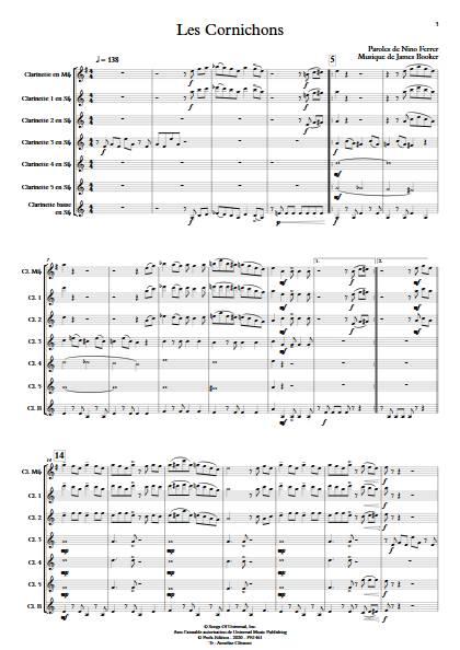 Les Cornichons - Ensemble de Clarinettes - BOOKER J. - app.scorescoreTitle