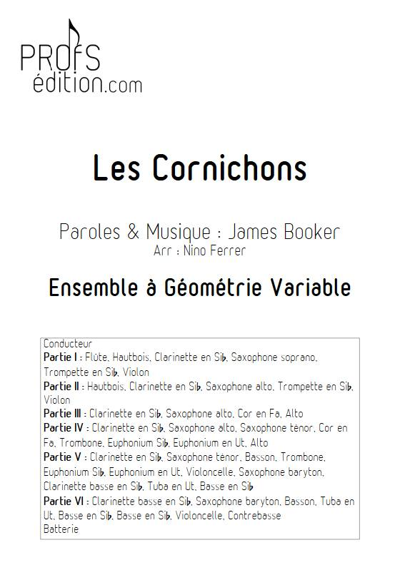 Les Cornichons - Ensemble Variable - BOOKER J. - page de garde