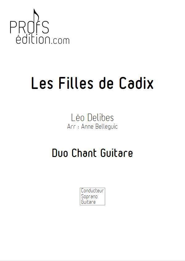 Les Filles de Cadix - Guitare et Voix - DELIBES L. - page de garde