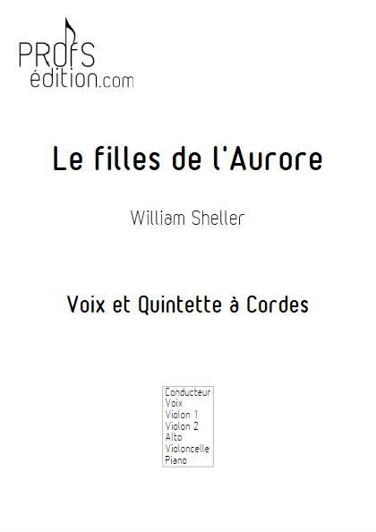 les filles de l'aurore - Chant et Quintette à Cordes - SHELLER W. - page de garde