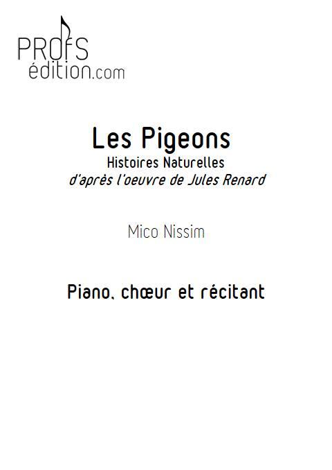 Les Pigeons - Chœur et Piano - NISSIM M. - page de garde