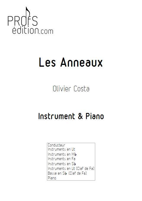 Les Anneaux - Instrument & Piano - COSTA O. - page de garde