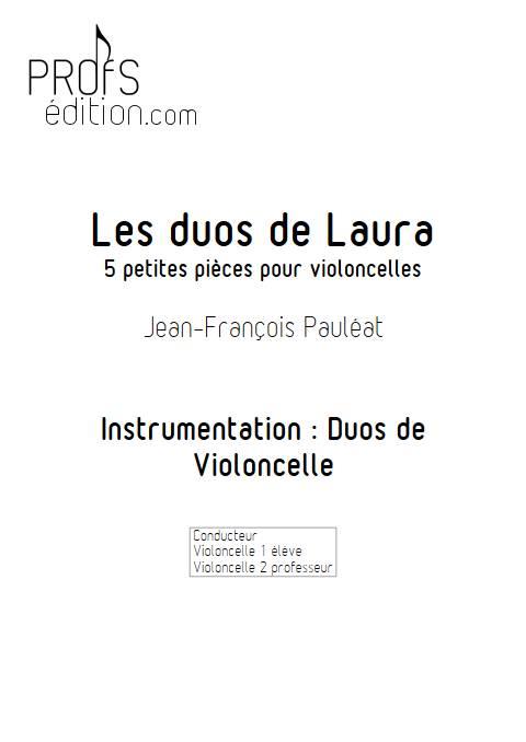 Les duos de Laura - Duo de Violoncelles - PAULEAT J.F. - page de garde