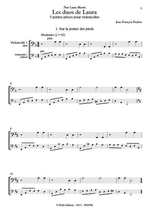 Les duos de Laura - Duo de Violoncelles - PAULEAT J.F. - Partition