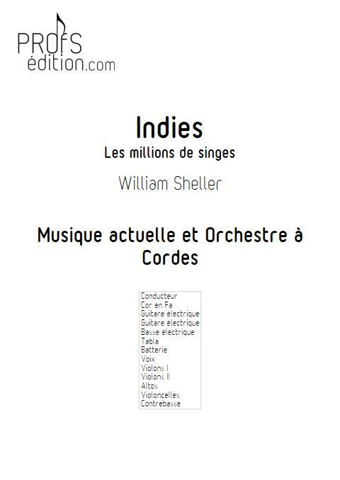 Indies, Les millions de singes - Musique actuelle et Orchestre à Cordes - SHELLER W. - page de garde