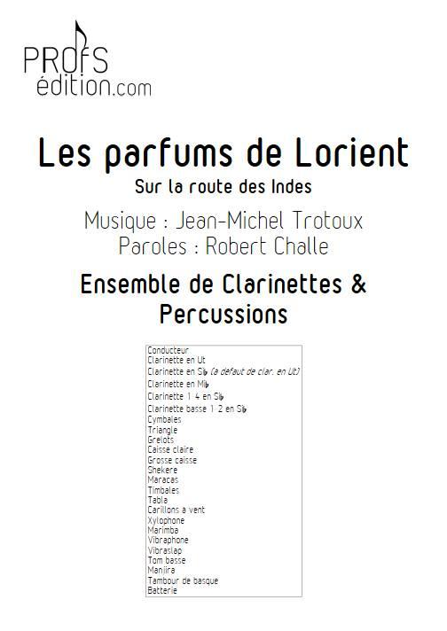 Les parfums de Lorient - Ensemble de Clarinette, Percussions & récitant - TROTOUX J-M. - page de garde