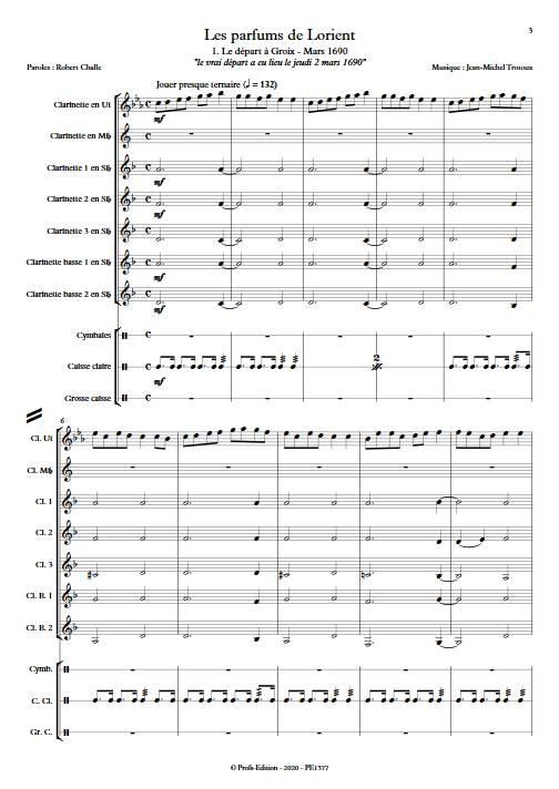 Les parfums de Lorient - Ensemble de Clarinette, Percussions & récitant - TROTOUX J-M. - app.scorescoreTitle