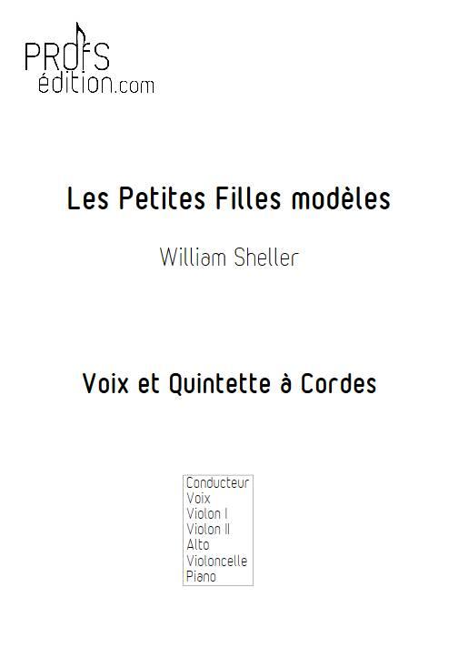 Les Petites Filles modèles - Chant et Quintette à Cordes - SHELLER W. - page de garde