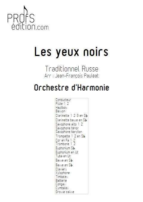 Les yeux noirs - Orchestre d'Harmonie - TRADITIONNEL RUSSE - page de garde