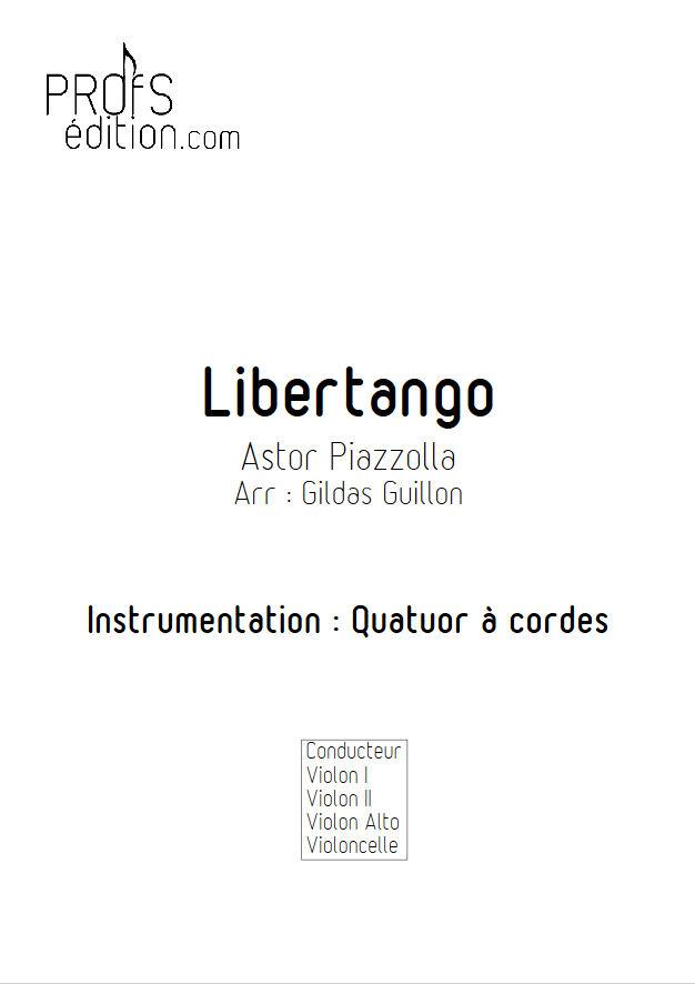 Libertango - Quatuor à Cordes - PIAZZOLLA A. - page de garde