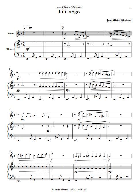 Lili tango - Flûte & Piano - OBERLAND J-M. - app.scorescoreTitle