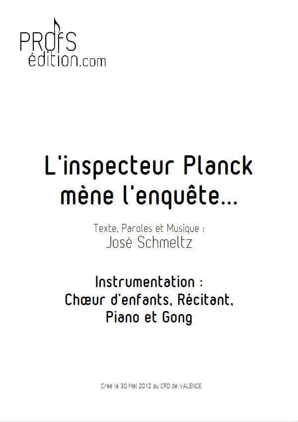 L'inspecteur Planck mène l'enquête - Chant & Piano - SCHMELTZ J. - page de garde