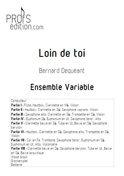 Loin de toi - Ensemble Variable - DEQUEANT B. - page de garde