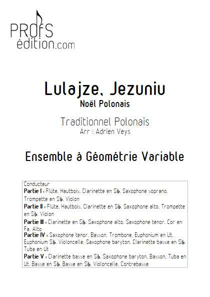 Lulajze, Jezuniu - Ensemble Variable - TRADITIONNEL POLONAIS - page de garde