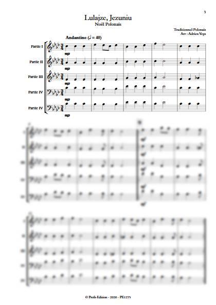Lulajze, Jezuniu - Ensemble Variable - TRADITIONNEL POLONAIS - app.scorescoreTitle