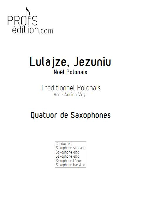 Lulajze, Jezuniu - Quatuor de Saxophones - TRADITIONNEL POLONAIS - page de garde