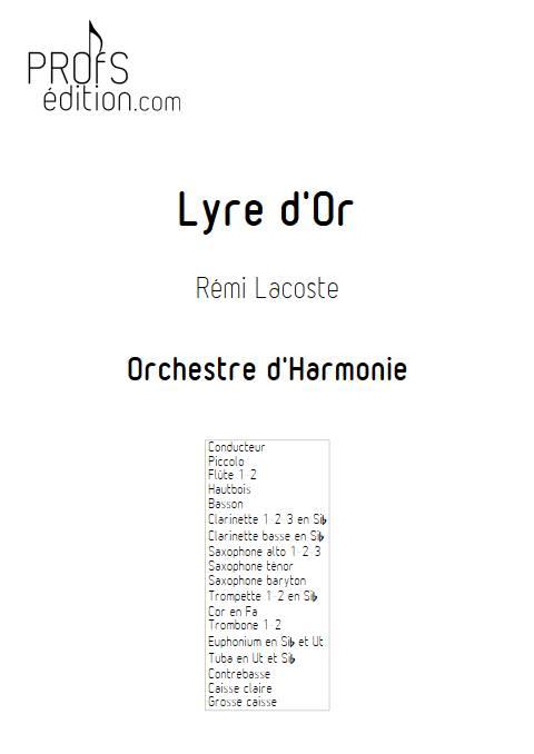 Lyre d'or - Orchestre d'Harmonie - LACOSTE R. - page de garde