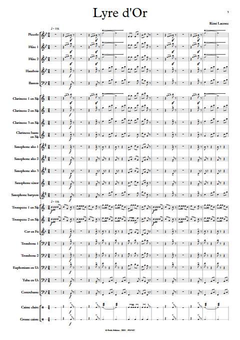 Lyre d'or - Orchestre d'Harmonie - LACOSTE R. - app.scorescoreTitle