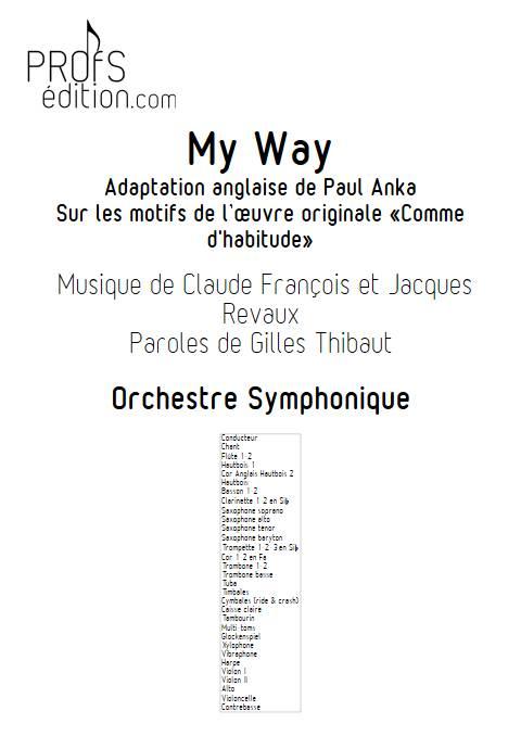 My Way - Orchestre Symphonique - FRANCOIS C. - page de garde