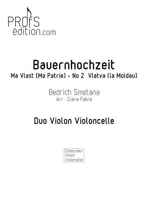 Ma Vlast - Violon Violoncelle - SMETANA B. - page de garde