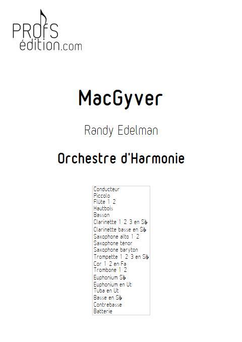 MacGyver - Orchestre d'Harmonie - EDELMAN R. - page de garde