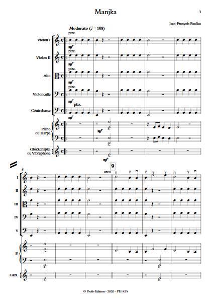 Manjka - Orchestre à cordes - PAULEAT J. F. - app.scorescoreTitle
