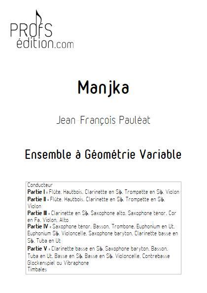 Manjka - Ensemble Variable - PAULEAT J. F. - page de garde