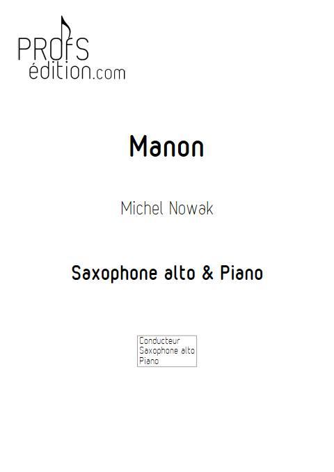 Manon - Saxophone & Piano - NOWAK M. - page de garde