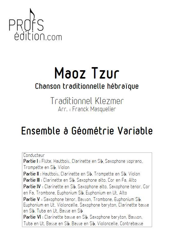 Maoz Tzur - Ensemble variable - TRADITIONNEL KLEZMER - page de garde