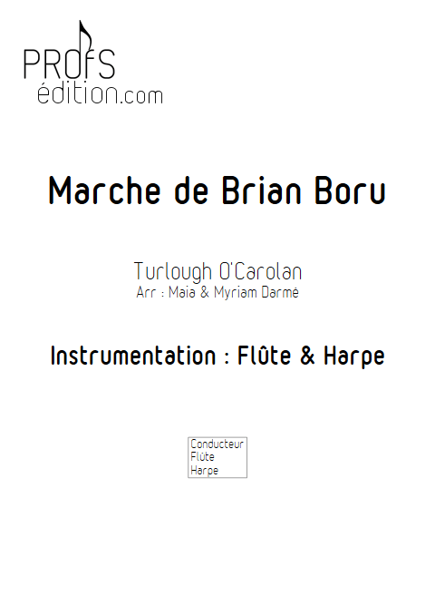 Marche de Brian Boru - Flûte & Harpe - TRADITIONNEL IRLANDAIS - page de garde