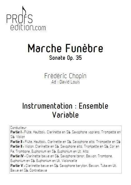 Marche Funèbre Op. 35 - Ensemble Variable - CHOPIN F. - page de garde