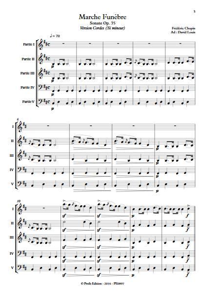 Marche Funèbre Op. 35 - Ensemble Variable - CHOPIN F. - Partition