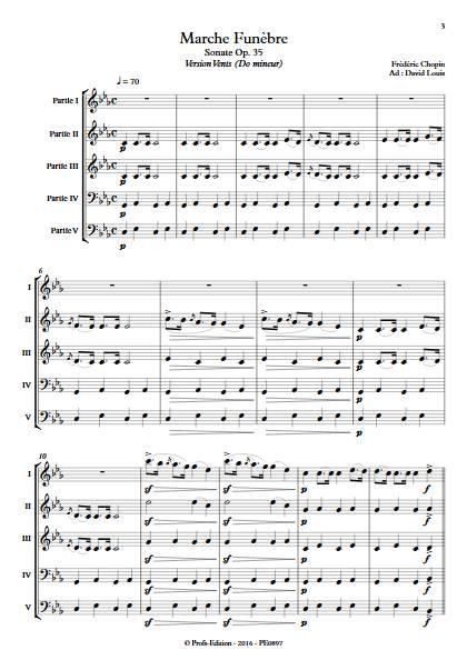 Marche Funèbre Op. 35 - Ensemble Variable - CHOPIN F. - Fiche Pédagogique