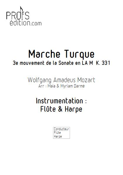 La Marche Turque - Flûte & Harpe - MOZART W.A. - page de garde