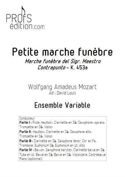 Marche Funèbre - Ensemble Variable - MOZART W. A. - page de garde