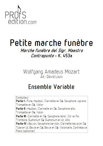 Marche Funèbre - Ensemble Variable - MOZART W. A. - page de garde