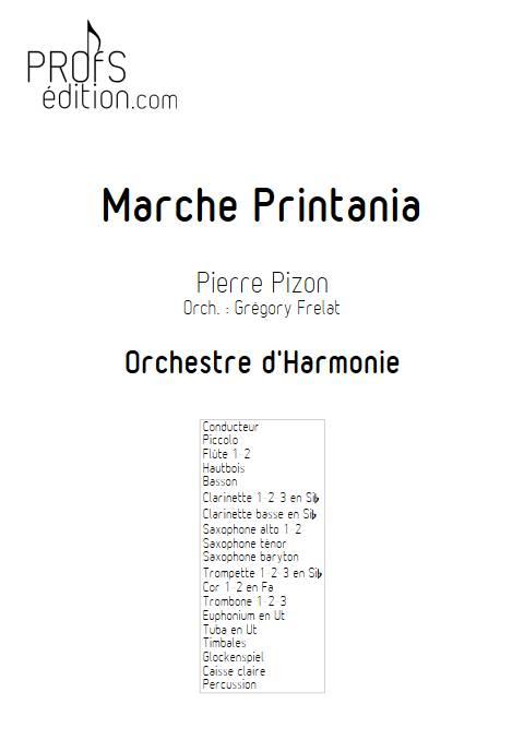 Marche Printania - Orchestre d'Harmonie - PIZON P. - page de garde