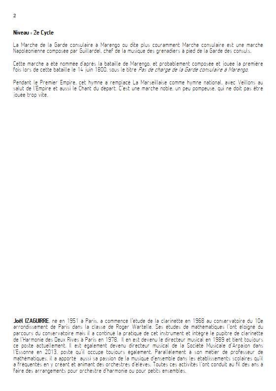 Marche consulaire- Ensemble Variable - GUILLARDEL - Fiche Pédagogique