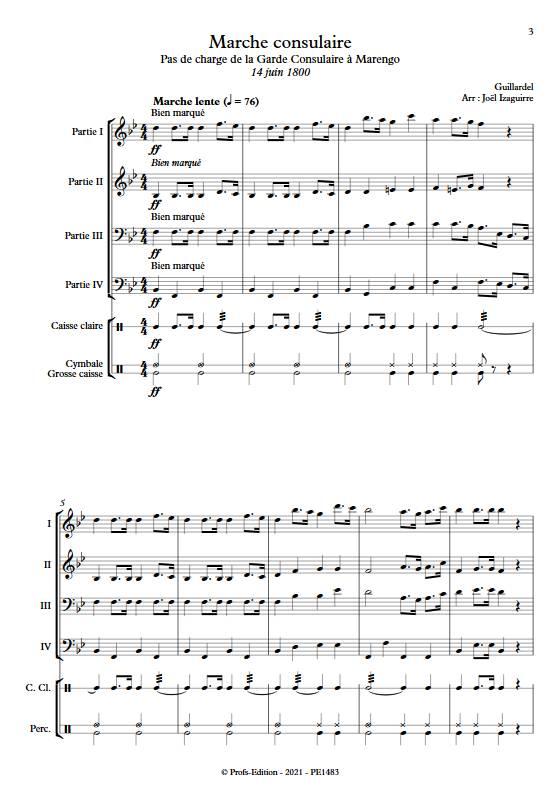 Marche consulaire- Ensemble Variable - GUILLARDEL - app.scorescoreTitle