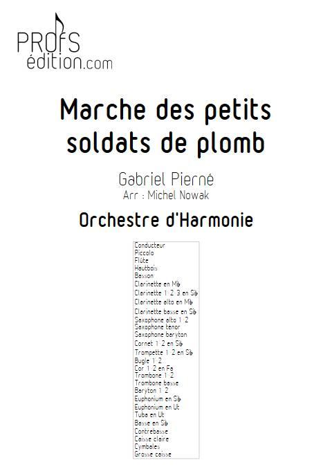 Marche des petits soldats de plomb - Orchestre d'Harmonie - PIERNE G. - page de garde