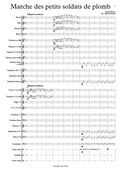 Marche des petits soldats de plomb - Orchestre d'Harmonie - PIERNE G. - app.scorescoreTitle