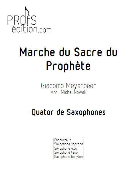 Marche du Sacre du Prophète - Quatuor de Saxophones - MEYERBEER G. - page de garde