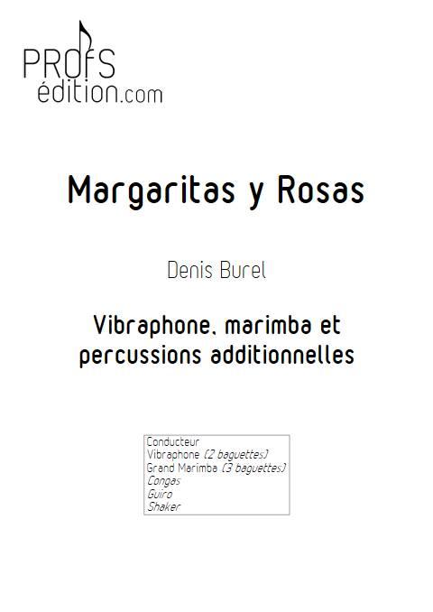 Margaritas y Rosas - Ensemble de Percussions - BUREL D. - page de garde