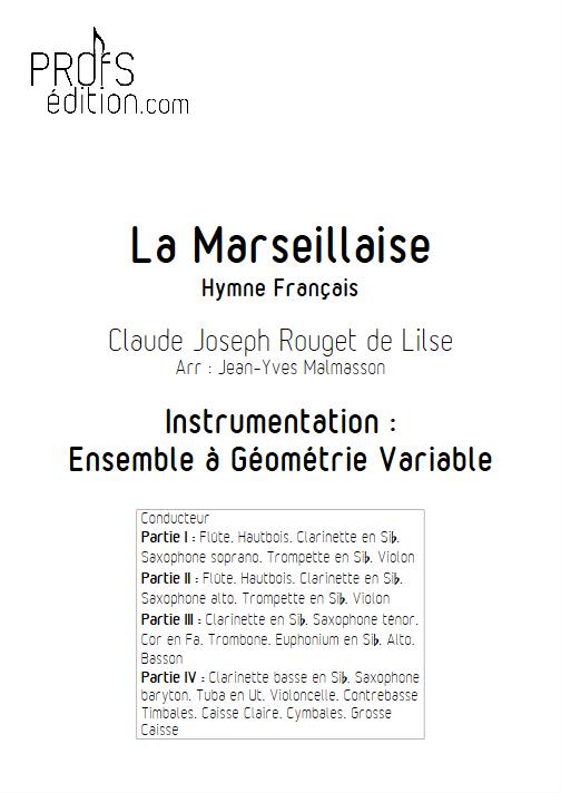 La Marseillaise - Ensemble à Géométrie Variable - ROUGET DE LISLE C. J. - page de garde