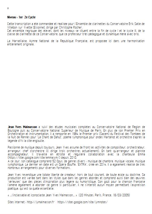 La Marseillaise - Ensemble à Géométrie Variable - ROUGET DE LISLE C. J. - Fiche Pédagogique