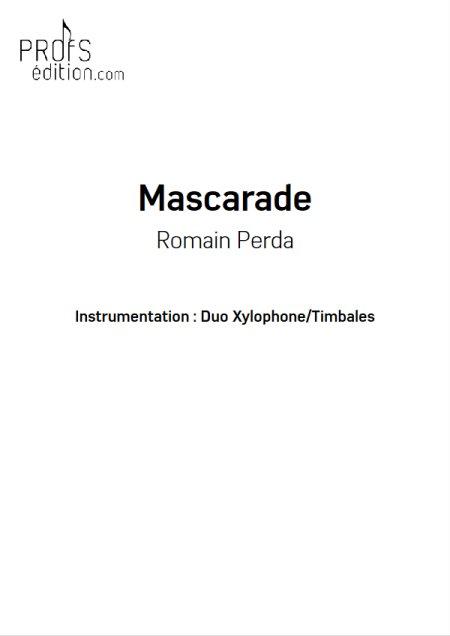 Mascarade - Duo Percussions - R. PERDA - Fiche Pédagogique