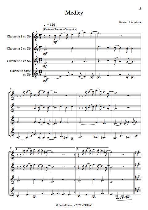 Medley - Quatuor de Clarinettes - DEQUEANT B. - app.scorescoreTitle